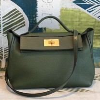 Hermes 24/24 29 Bags In Canopee Clemence Calfskin