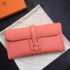 Hermes Jige Elan 29 Clutch Bags In Crevette Epsom Leather