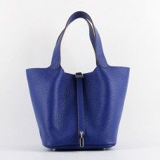 Hermes Picotin Lock Bags In Electric Blue Leather