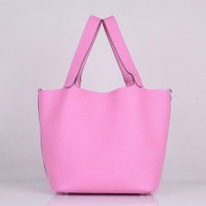 Hermes Picotin Lock Bags In Pink Leather