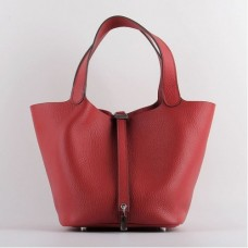 Hermes Picotin Lock Bags In Red Leather