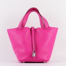 Hermes Picotin Lock Bags In Rose Red Leather