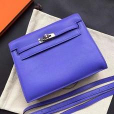 Hermes Kelly Danse Bags In Blue Swift Leather