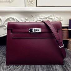 Hermes Kelly Danse Bags In Bordeaux Swift Leather