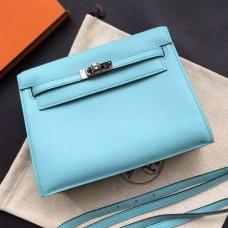 Hermes Kelly Danse Bags In Celeste Swift Leather