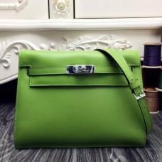 Hermes Kelly Danse Bags In Green Swift Leather