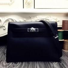 Hermes Kelly Danse Bags In Black Swift Leather