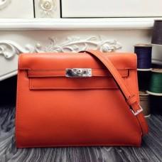 Hermes Kelly Danse Bags In Orange Swift Leather