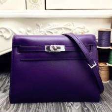 Hermes Kelly Danse Bags In Purple Swift Leather