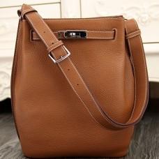 Hermes So Kelly 22cm Bags In Brown Leather