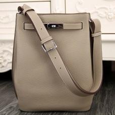 Hermes So Kelly 22cm Bags In Grey Leather