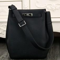 Hermes So Kelly 22cm Bags In Black Leather