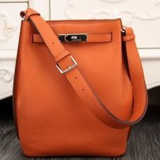 Hermes So Kelly 22cm Bags In Orange Leather