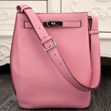 Hermes So Kelly 22cm Bags In Pink Leather