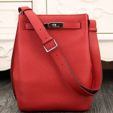 Hermes So Kelly 22cm Bags In Red Leather