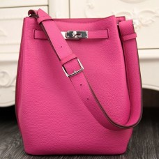 Hermes So Kelly 22cm Bags In Rose Red Leather