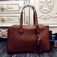 Hermes Victoria II 35cm Bags In Brown Leather