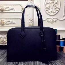 Hermes Victoria II 35cm Bags In Black Leather