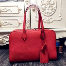 Hermes Victoria II 35cm Bags In Red Leather