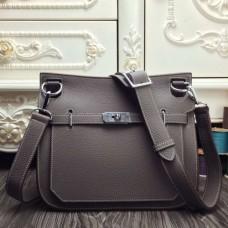 Hermes Grey Large Jypsiere 34cm Bags