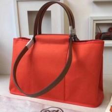 Hermes CaBags Elan Bags In Capucine Canvas