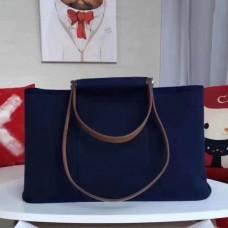 Hermes CaBags Elan Bags In Dark Blue Canvas