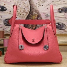 Hermes Rose Lipstick Clemence Lindy 34cm Bags