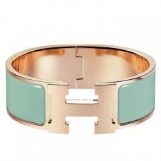Hermes Aqua Enamel Clic Clac H PM Bracelet