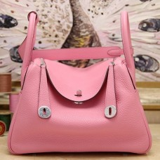 Hermes Pink Clemence Lindy 30cm Bags