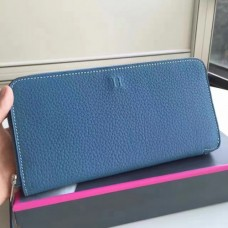 Hermes Blue Jean Azap Zipped Wallet