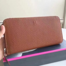 Hermes Brown Clemence Azap Zipped Wallet