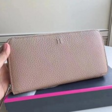 Hermes Grey Clemence Azap Zipped Wallet