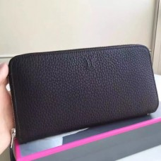 Hermes Black Clemence Azap Zipped Wallet
