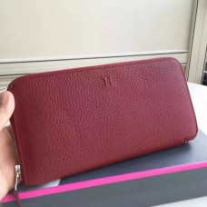 Hermes Ruby Clemence Azap Zipped Wallet