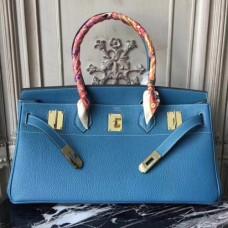Hermes Blue JPG Birkin 42cm Shoulder Bags