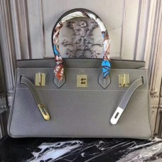 Hermes Lin Blue JPG Birkin 42cm Shoulder Bags