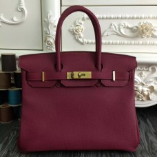 Hermes Birkin 30cm 35cm Bags In Bordeaux Clemence Leather