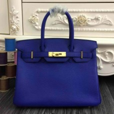 Hermes Birkin 30cm 35cm Bags In Electric Blue Clemence Leather