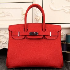 Hermes Birkin 30cm 35cm Bags In Red Clemence Leather