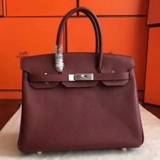 Hermes Bordeaux Epsom Birkin 30cm Handmade Bags