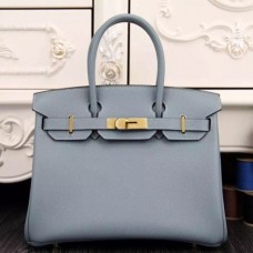 Hermes Birkin 30cm 35cm Bags In Blue Lin Epsom Leather
