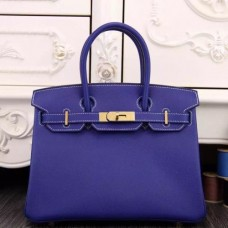 Hermes Birkin 30cm 35cm Bags In Electric Blue Epsom Leather