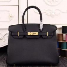 Hermes Birkin 30cm 35cm Bags In Black Epsom Leather