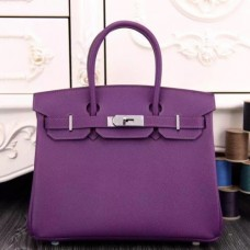 Hermes Birkin 30cm 35cm Bags In Purple Epsom Leather