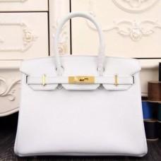 Hermes Birkin 30cm 35cm Bags In White Epsom Leather