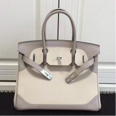 Hermes Birkin Ghillies 30cm In Ivory Swift Leather