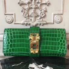 Hermes Medor Clutch Bags In Bamboo Crocodile Leather