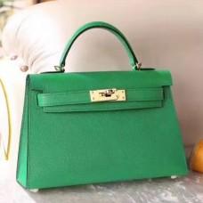 Hermes Bamboo Epsom Kelly Mini II 20cm Handmade Bags