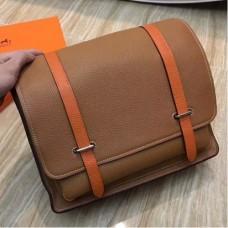 Hermes Bicolor Steve 35 Messenger Brown Bags