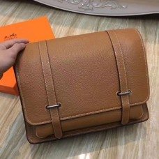 Hermes Brown Steve 35 Messenger Bags